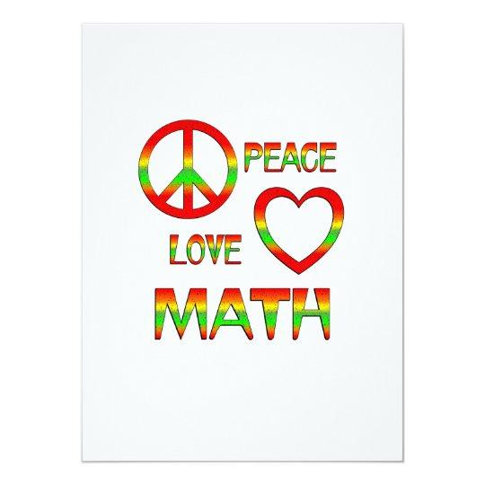 Peace Love Math Card