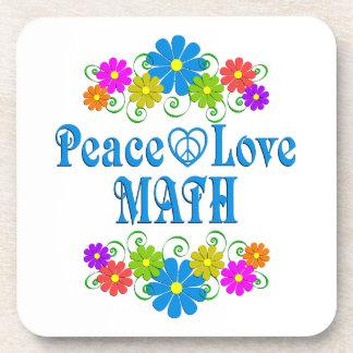 Peace Love Math Coaster