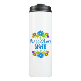 Peace Love Math Thermal Tumbler