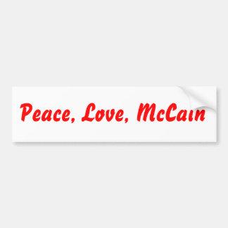Peace, Love, McCain Bumper Sticker