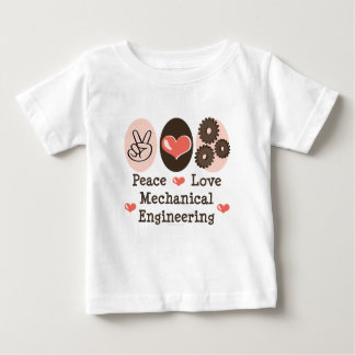 Peace Love Mechanical Engineering Baby T-shirt