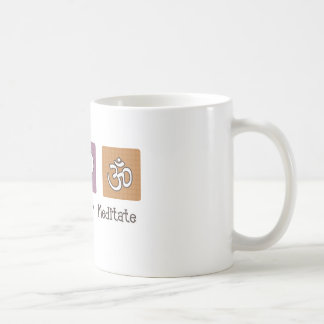 Peace Love Meditate Coffee Mug