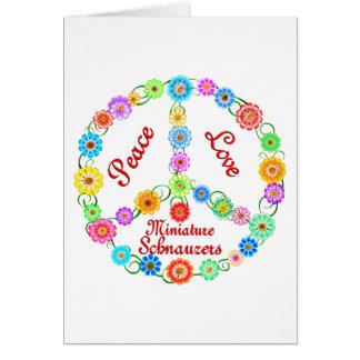 Peace Love Miniature Schnauzers Card