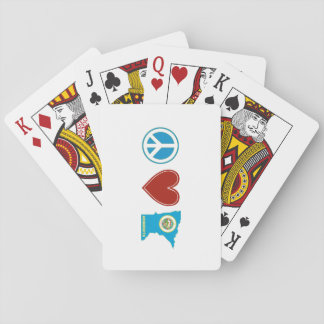 Peace Love Minnesota Playing Cards