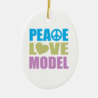 Peace Love Model Ceramic Ornament