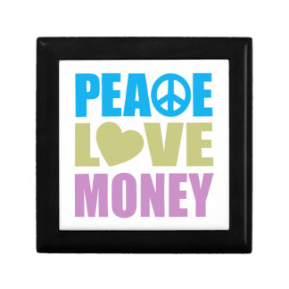 Peace Love Money Jewelry Boxes
