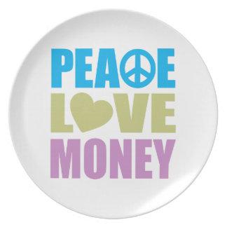 Peace Love Money Plates