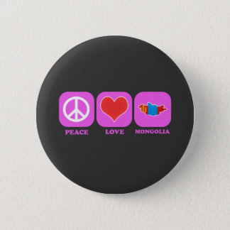 Peace Love Mongolia 2 Inch Round Button