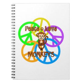 Peace Love Monkeys Notebook