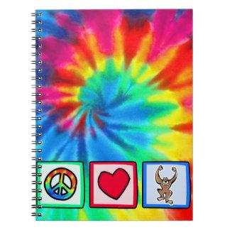 Peace, Love, Monkeys Notebook