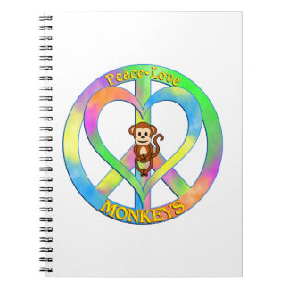 Peace Love Monkeys Notebooks