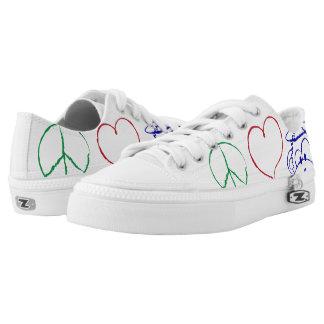 Peace, Love, Monkeys Shoe