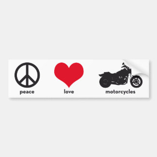 Peace • Love • Motorcycles Bumper Sticker