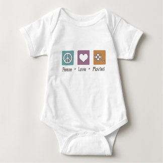 Peace Love Movies Baby Bodysuit