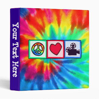 Peace, Love, Movies Vinyl Binders