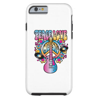 Peace Love Music Tough iPhone 6 Case