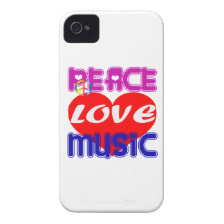 Peace Love Music iPhone 4 Cases
