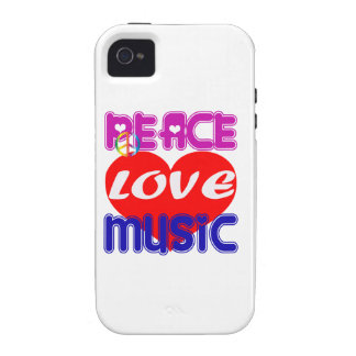 Peace Love Music Case-Mate iPhone 4 Covers