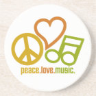 Peace Love Music coaster
