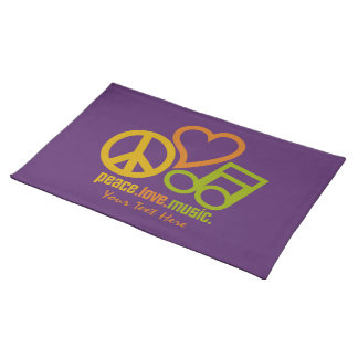 Peace Love Music custom placemat