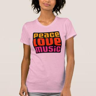 Peace love music design t shirt