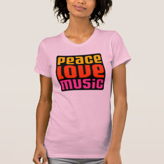 Peace love music design tshirts