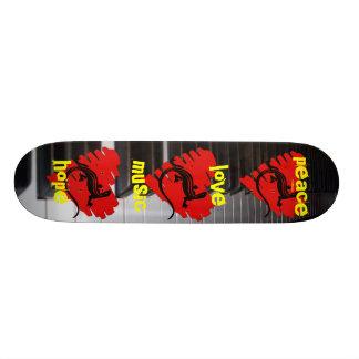 Peace Love Music Hope Skateboards