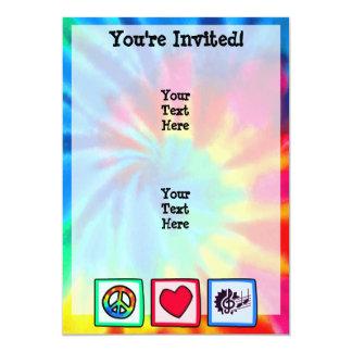 Peace, Love, Music 5x7 Paper Invitation Card