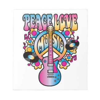Peace Love Music Notepad