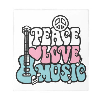 Peace-Love-Music Notepads