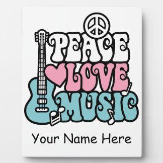 Peace-Love-Music Plaques