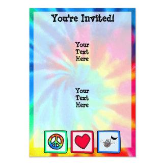 "Peace, Love, Music; Tie Dye 5"" X 7"" Invitation Card"