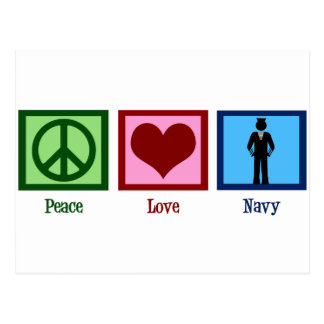 Peace Love Navy Postcard
