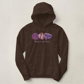Peace, Love, Neos Embroidered Sweatshirt