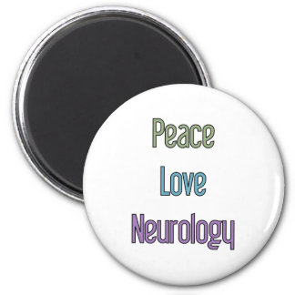 Peace, Love, Neurology Magnet