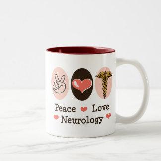 Peace Love Neurology Neurologist Mug