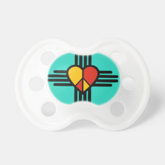 Peace Love New Mexico Baby Pacifier