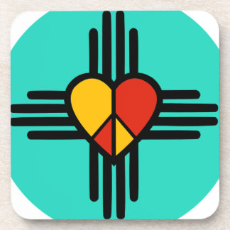 Peace Love New Mexico Beverage Coasters