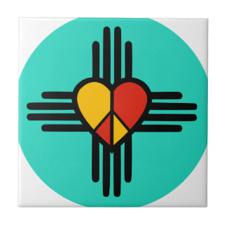 Peace Love New Mexico Ceramic Tiles