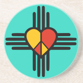 Peace Love New Mexico Drink Coaster