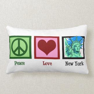 Peace Love New York Lumbar Pillow
