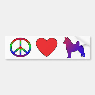 Peace Love Norwegian Elkhounds Bumper Sticker