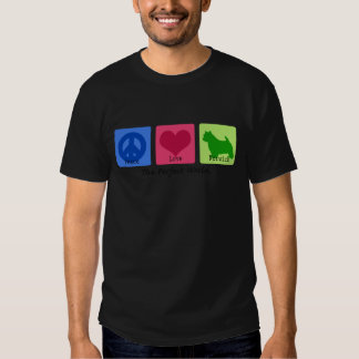 Peace Love Norwich Terrier Tee Shirts