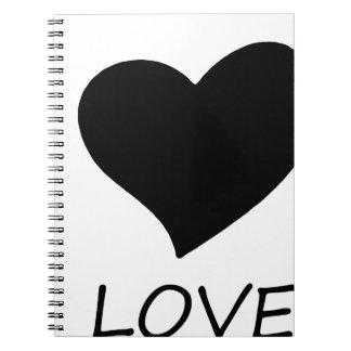 peace love notebook