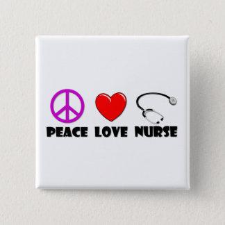 Peace Love Nurse 2 Inch Square Button
