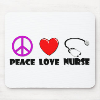 Peace Love Nurse Mouse Pad