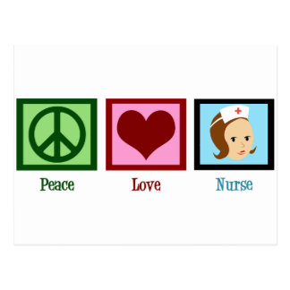 Peace Love Nurse Postcard