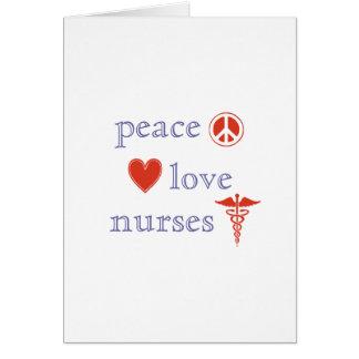 Peace Love Nurses Card