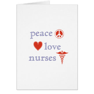 Peace Love Nurses Day Note Card