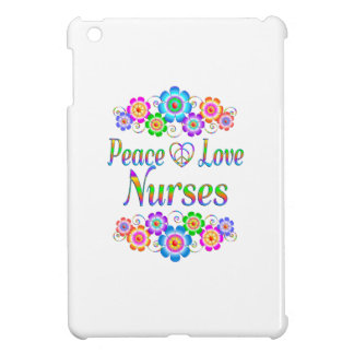 Peace Love Nurses Flowers iPad Mini Case